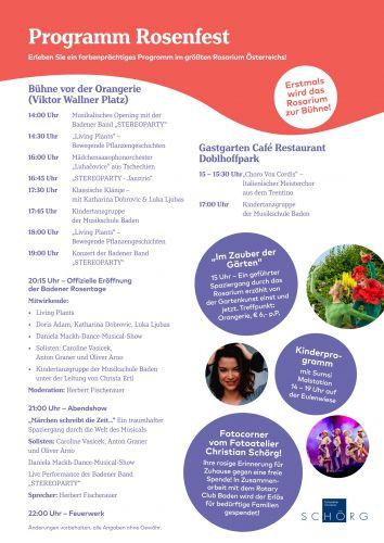 Badener Rosenfest Programm